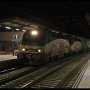 Primer tren con semirremolques que circula por España