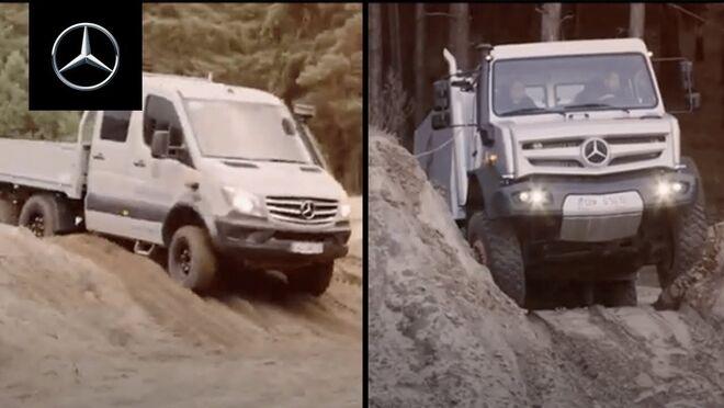 Batalla fuera del asfalto Mercedes-Benz: Sprinter 6x6 vs Unimog