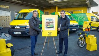 La furgoneta eléctrica de MAN, en los sellos de Austria