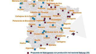 Naturgy anuncia la construcción de 38 hidrogeneras en España
