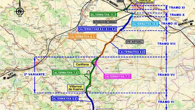 El BOE publica la información sobre el tramo ferroviario Zaragoza-Teruel