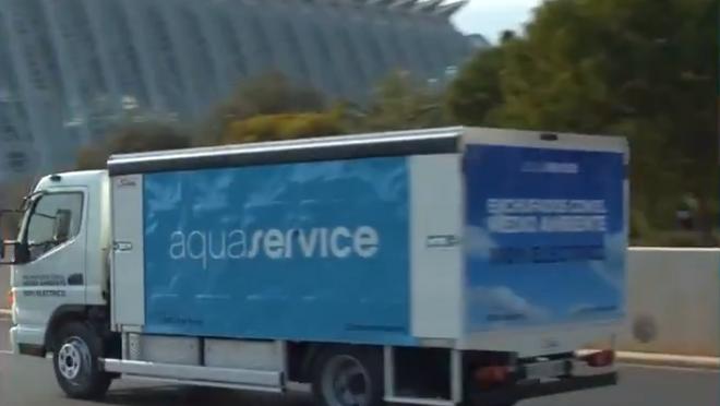 Aquaservice incorpora un Fuso Canter eléctrico a su flota de reparto en Valencia