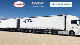 Henkel y Capsa Food comparten un duo-trailer en la ruta Madrid-Cataluña