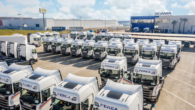Grupo Perea busca reducir un litro el consumo medio de gasóleo con 45 nuevos Scania R450