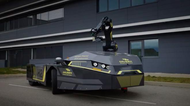 Gaussin presenta una tractora 100% autónoma propulsada por hidrógeno