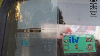 Imputado un camionero por poner una pegatina de la ITV sin haberla pasado y carecer de seguro