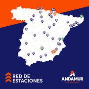 Andamur alcanza las 48 estaciones en España tras abrir 12 en 2020