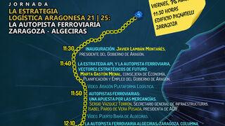 La autopista ferroviaria Zaragoza-Algeciras centra una jornada que clausurará Ábalos