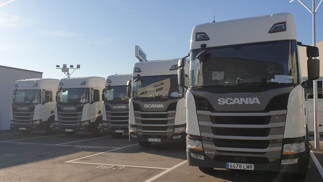 Scania entrega cinco tractoras de GNL a Molgás Energía