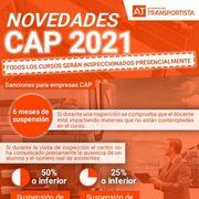 Novedades CAP 2021: inspección presencial de todos los cursos