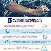 CETM pide priorizar la vacunación de transportistas ante las nuevas cepas