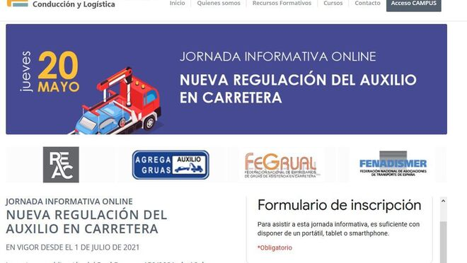 Fenadismer organiza un webinar sobre la nueva regulación de la actividad del auxilio en carretera