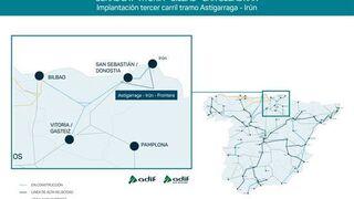 El Gobierno autoriza la licitación de las obras de adaptación del trayecto Astigarraga-Irún
