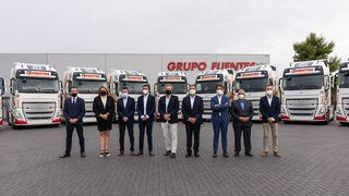 Volvo entrega las primeras unidades de su FH a Grupo Fuentes