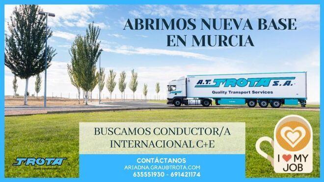 Trota busca conductores tras abrir una base en Murcia