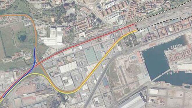 Mitma aprueba el estudio del baipás para trenes de mercancías en Santander