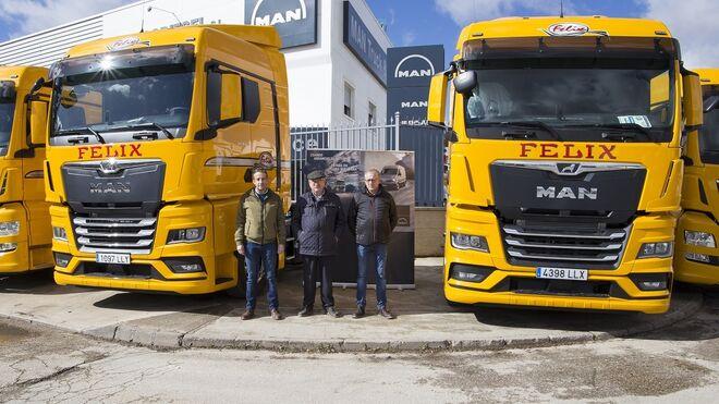 Transportes Félix adquiere 15 tractoras MAN TGX