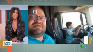 El indignante vídeo en el que un padre se mofa de dejar a su hijo de diez años conducir un camión