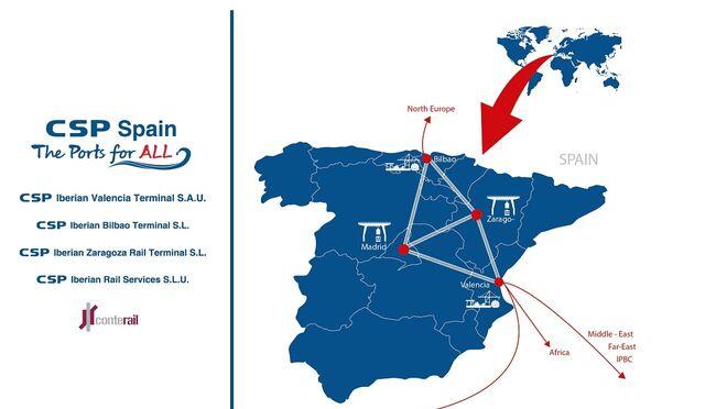 Cosco Shipping consigue conectar sus cuatro puertos
