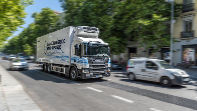 Llega a España el Scania P 360 híbrido enchufable