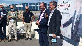 Aurelio Martínez en un encuentro con empresarios en el Puerto de Valencia.