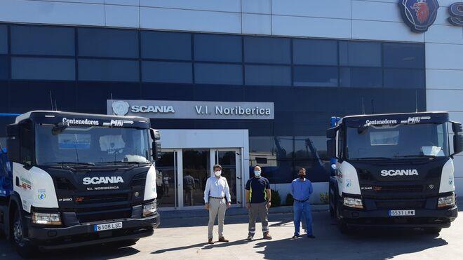 Scania entrega a Contenedores MAI dos camiones de GNC
