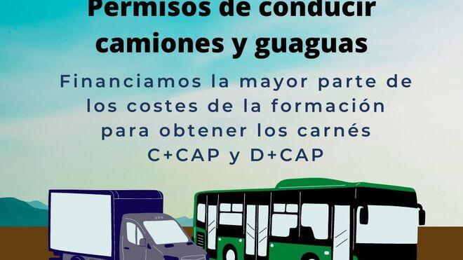 Tenerife facilitará que 20 parados obtengan carné de camiones y autobuses
