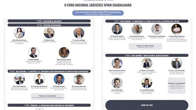 Guadalajara acoge el 3 de noviembre el II Foro Nacional 'Logistics Spain'